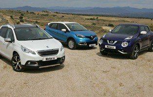 Comparativa Nissan Juke, Peugeot 2008 y Renault Captur. Nueva especie urbana