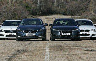 Comparativa Audi A3 Sportback, BMW Serie 1, Mercedes Clase A y Volvo V40. ¿Alguno de los cuatro es el mejor?