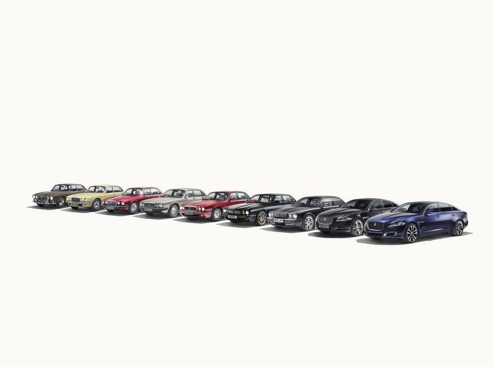 Las ocho generaciones del Jaguar XJ