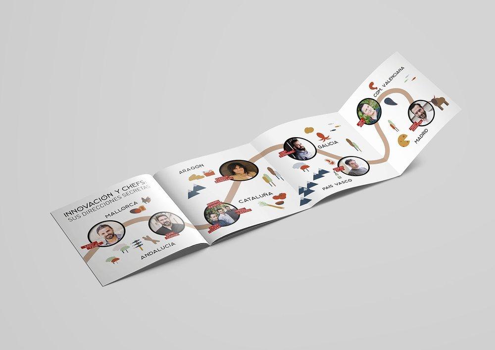 La guía recorre diferentes puntos de la geografía española de la mano de los chefs