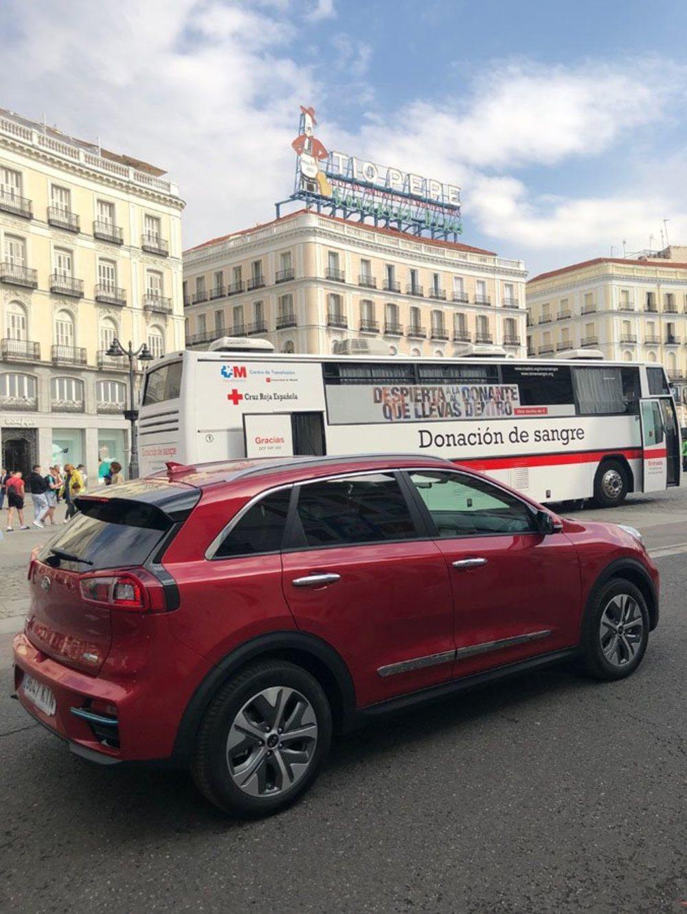 Entra, sin problemas -salvo el atasco que sufrimos- en Madrid Central gracias a su etiqueta 0.