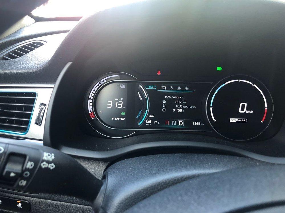 Solo 16 kWh/100 km tras 89,2 kilómetros recorridos a buen ritmo.