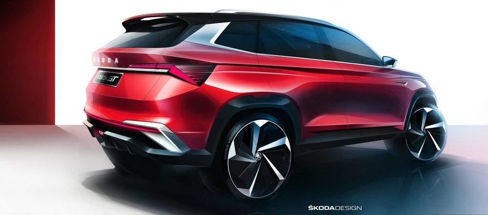 Estos bocetos del Skoda Vision GT se convertirán en un prototipo que veremos en junio en Shenzhen y que adelantará una versión con un toque deportivo del Skoda Kamiq. Es probable que sólo se venda en China.