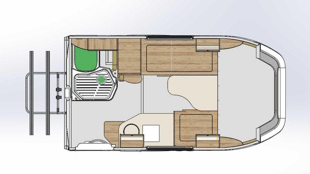 Los expertos de Lux-Form adaptan la versión comercial del Lada Granta en esta asequible caravana que arranca en los 15.600 euros al cambio. Su zona habitable ofrece confort y espacio para dos ocupantes.
