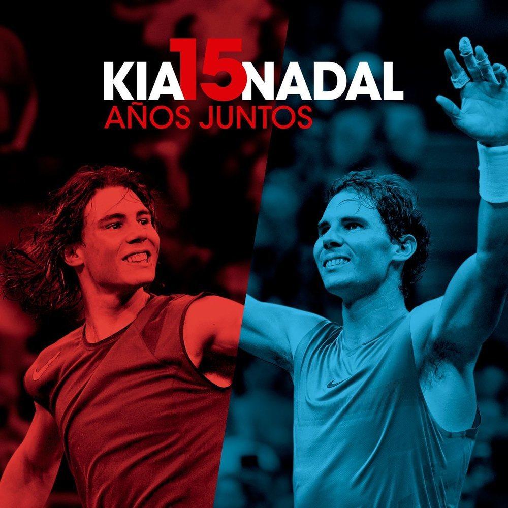 Kia apoya a Rafa Nadal desde que este comenzaba en el mundo del tenis.