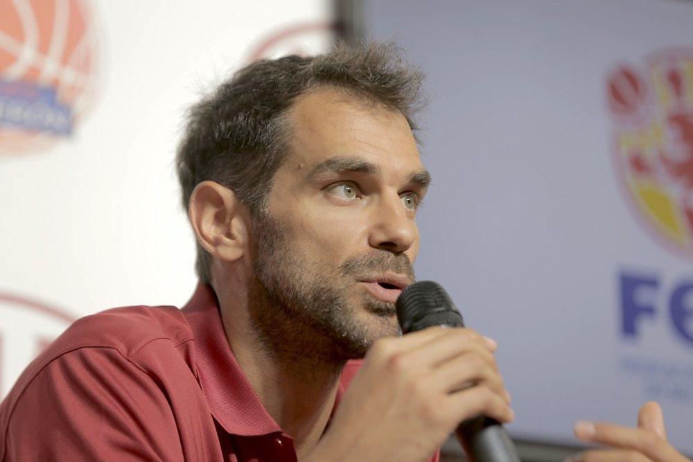 José Manuel Calderón, durante la presentación de la nueva edición  del campus de baloncesto.