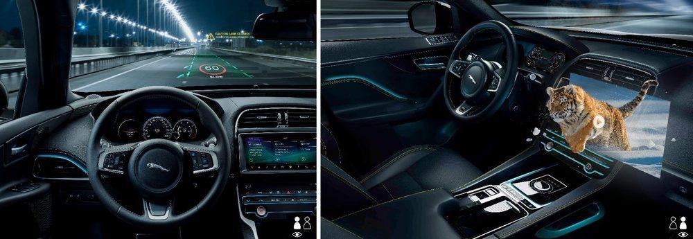 La nueva tecnología 3D se podrá aplicar al Head-Up display y también a la pantalla central táctil.