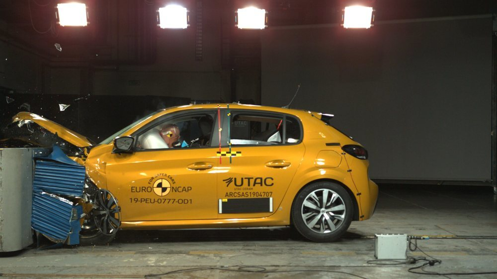 El Peugeot 208 se queda con 4 estrellas, penalizado sobre todo por su protección a peatones.