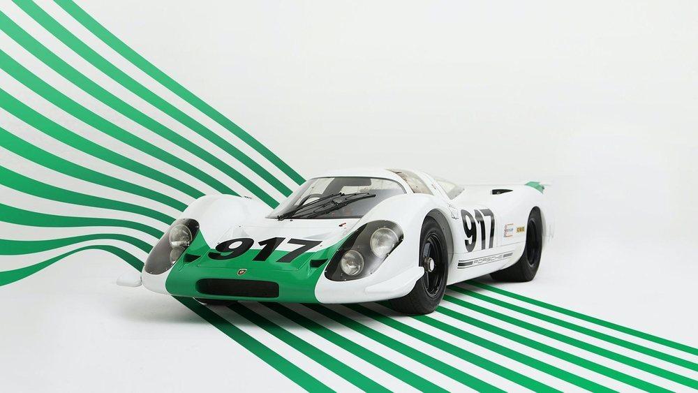 Esta decoración es la que empleó el ejemplar que Porsche presentó en el Salón de Ginebra de 1969.