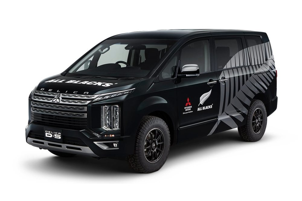 Este llamativo monovolumen fue utilizado como vehículo de apoyo por el equipo de rugby de los All Blacks.