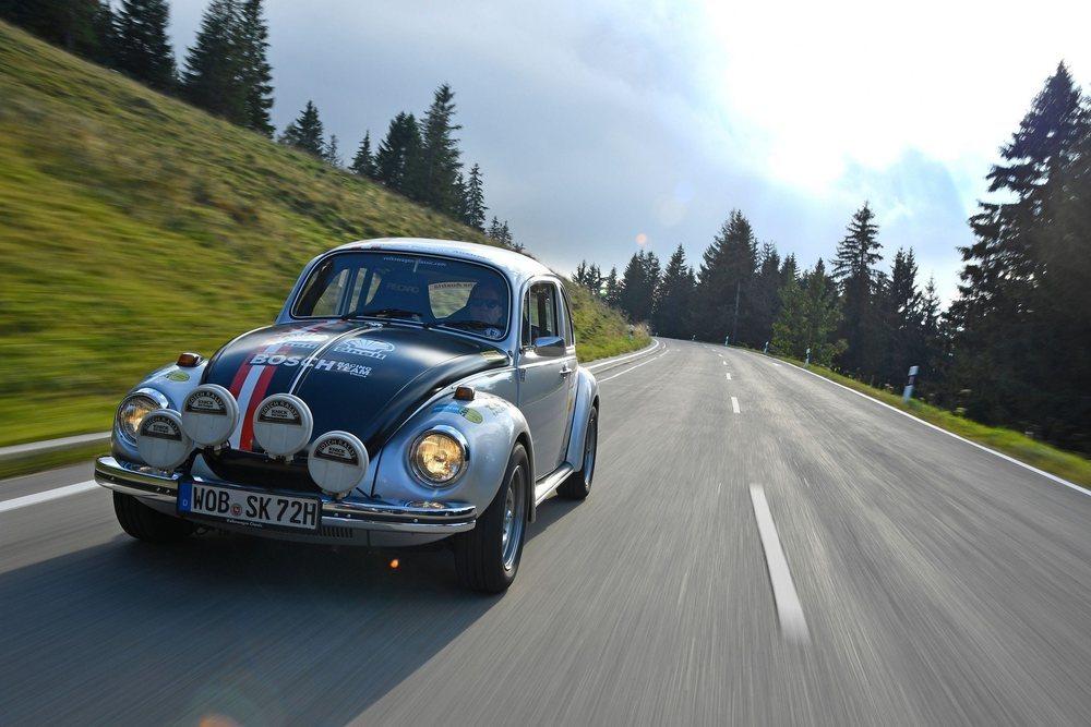En Zem am See Volkswagen también llevó su ID.R, un Beetle R utilizado en el Rallycross o este llamativo Beetle 1302 S modificado para rally.