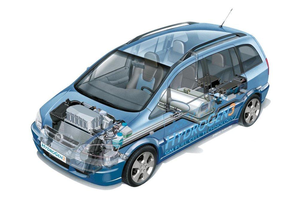 A finales de los años '90 Opel comienza con sus vehículos de hidrógeno, la mayoría de ellos desarrollados sobre la base de sus exitosos Zafira.