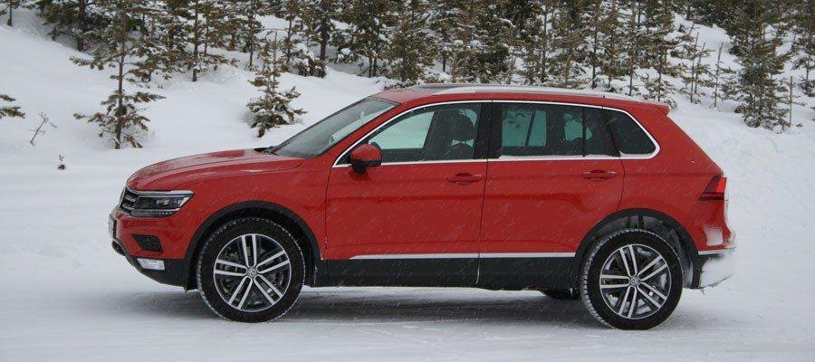 La tracción total en el nuevo Volkswagen Tiguan ha mostrado su eficacia en las carreteras suecas.