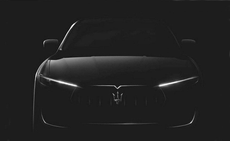 El frontal del Levante guarda los rasgos típicos de Maserati.