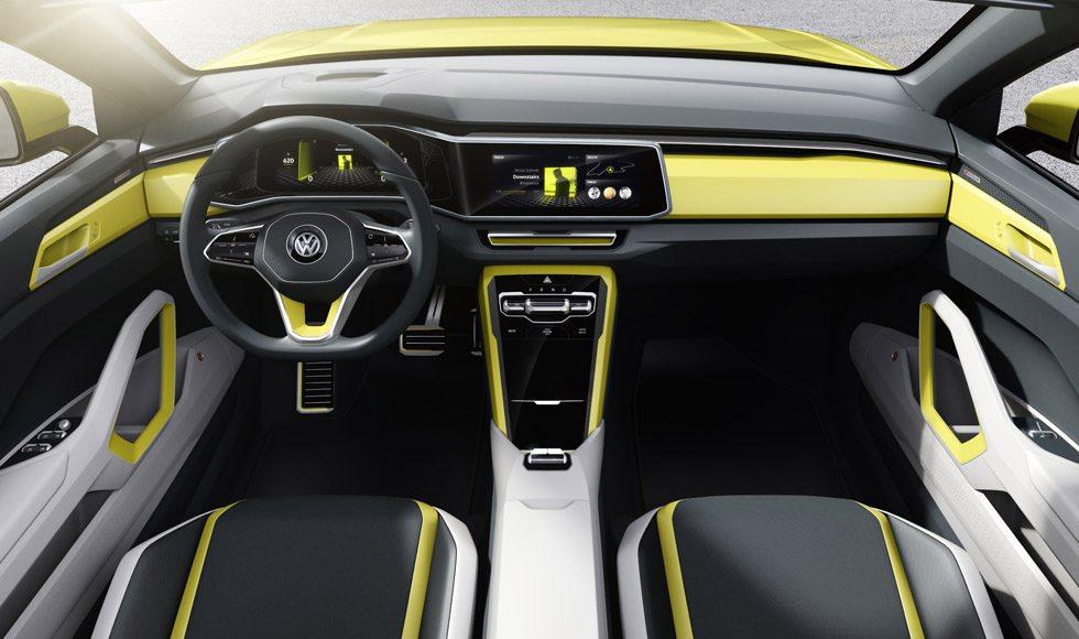 El interior contará con mandos táctiles y control gestual, tecnología que podría convertirse en realidad cuando llegue este primer crossover urbano de Volkswagen