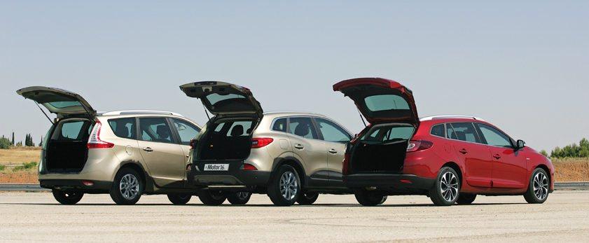 Renault es una marca pionera en vehículos para la familia. Kadjar, Grand Scénic y Mégane Sport Tourer son los modelos que ofrece ahora en su gama.
