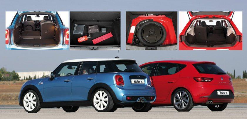 Más capacidad interior y de maletero en el Seat; más originalidad en el Mini.