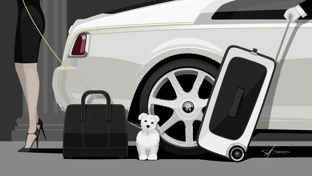 Ha sido el diseñador Michael Bryden quien ha creado este juego de maletas para los exclusivos Rolls Royce Wraith. El