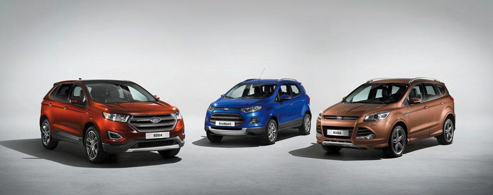 La gama todocamino de Ford cuenta ya con tres integrantes en Europa: EcoSport, Kuga y Edge