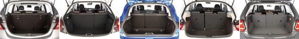 Todos tienen respaldos abatibles en dos partes asimétricas para ampliar su espacio de carga, pero ninguno añade asiento del acompañante delantero abatible.