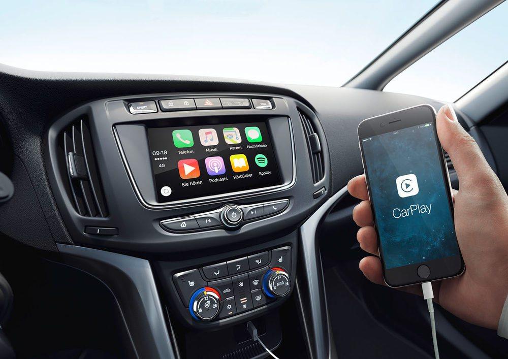 El nuevo Opel Zafira ofrece todas las posibilidades de conexion, con Apple Car Play, por ejemplo.