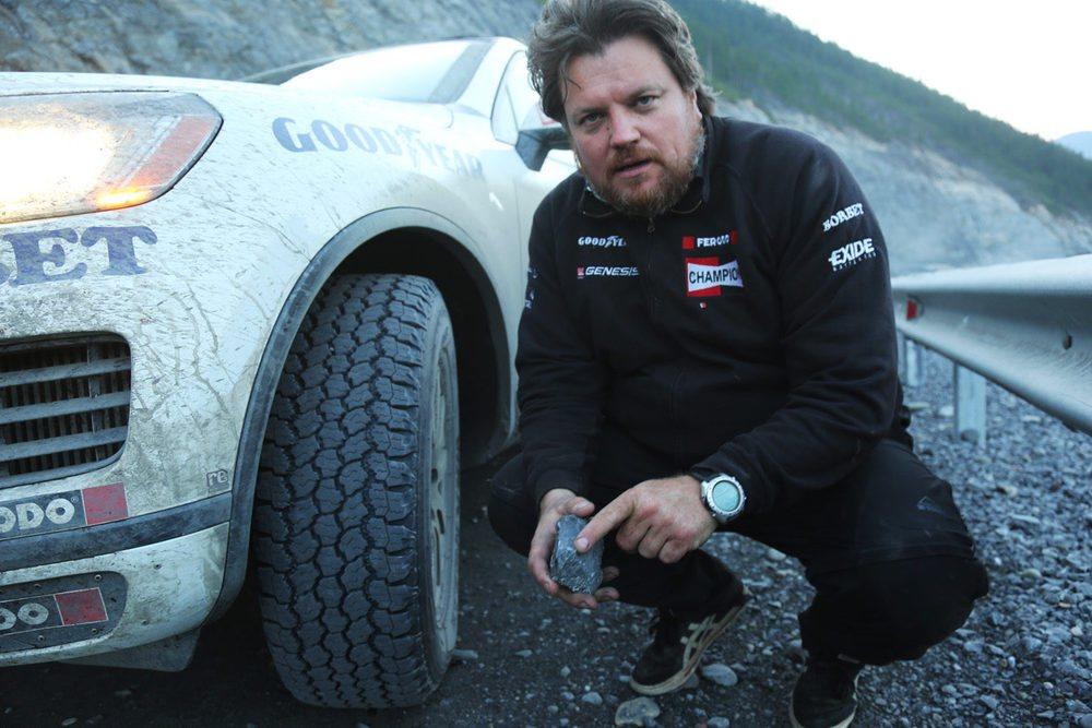 En esta imagen se puede apreciar los escollos que tuvieron que superar los neumáticos durante el viaje