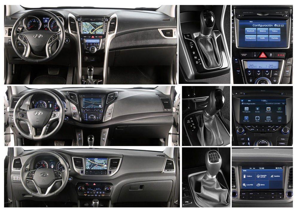 Estilo moderno y calidad de acabado brillan a gran altura en los tres modelos de Hyundai.