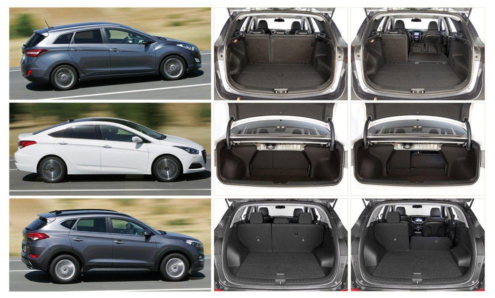 Tres siluetas diferentes para tres vehículos en los que la capacidad y la versatilidad tiene mucho que decir.