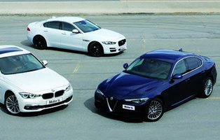 Alfa Romeo Giulia 2.2 180/BMW 320d/Jaguar XE 2.0 d 180. El Giulia impone su  carácter