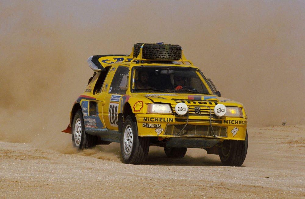 El Peugeot 205 Turbo 16, con Ari Vatanen al volante, ganó el Dakar en 1987. Repitió en 1988.