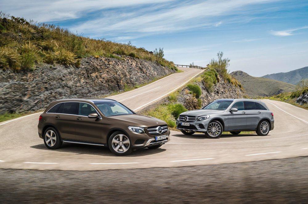 Mercedes-Benz GLC sobresale en off-road por la posibilidad de equipar la suspensión neumática Air Body Control, que permite variar la altura libre al suelo