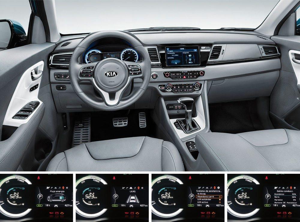 En la pantalla central aparece el modo de funcionamiento del coche en cada momento.