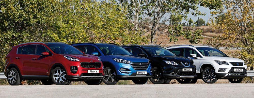 El Seat Ateca se enfrenta al Nissan Qashqai, Hyundai Tucson y Kia Sportage, los SUV más vendidos del mercado.