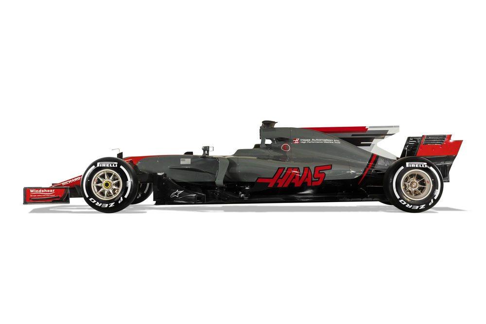 Con este bólido, Haas espera mantener la buena impresión de su temporada debut en Fórmula 1. Para su desarrollo, la estructura ha vuelto a contar con el apoyo de Ferrari y de Dallara