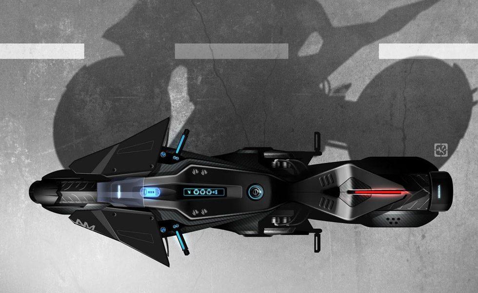 Así de llamativa es la montura creada por Honda Design para la nueva película protagonizada por Scarlett Johansson. Este prototipo podría adelantar un futuro modelo de producción.