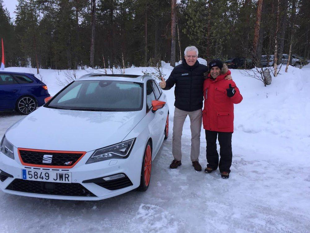 Jordi Gené, piloto de pruebas de la marca, nos contó algunas de las características del nuevo sistema de tracción total de Seat.