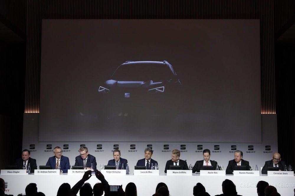 El presidente de Seat, Luca de Meo, anuncia la producción del nuevo SUV de siete plazas