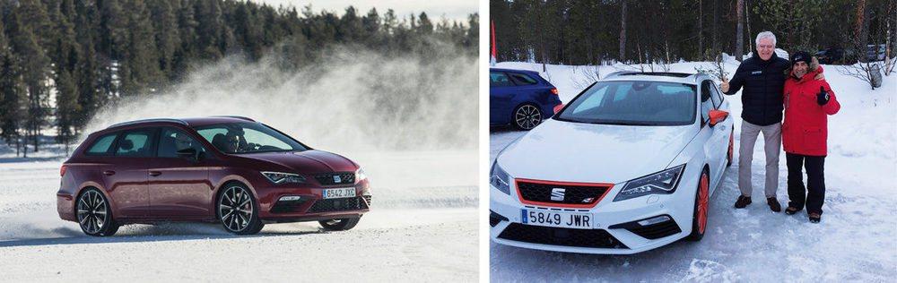 Juha Kankkunen tiene su academia de conducción sobre hielo en Laponia.
