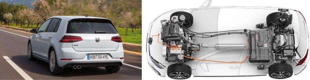 El Golf GTE permite un uso más racional en el modo eléctrico, pues llega a decidir automáticamente qué motor usar según el tipo de vía. Potencia de 204 CV en total combinando los dos motores.