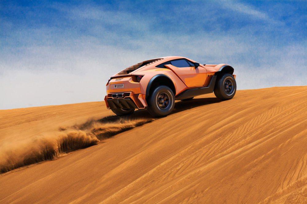 Para disfrutar de la conducción off-road pocos vehículos habrá tan divertidos como este Sand Racer GT500, que tiene chasis tubular, pesa 1.300 kilos y cuenta con un motor capaz de generar 525 CV de potencia.