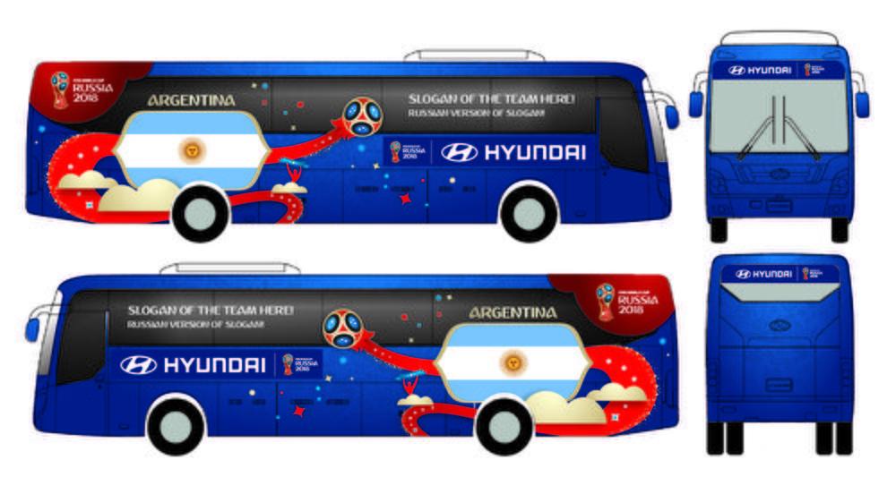 El lema elegido será visible en el autobús de cada equipo