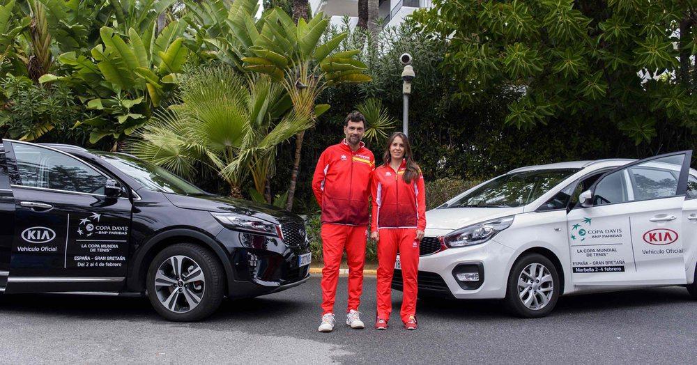 Kia ha sido coche oficial de la primera eliminatoria de la Copa Davis