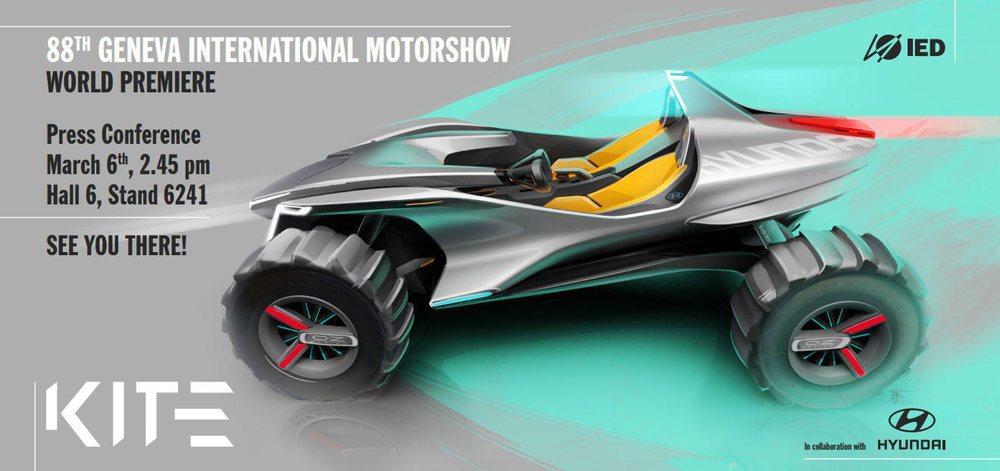 Este llamativo Hyundai Kite Concept se va a presentar en el Salón de Ginebra y no pasará de ser un prototipo que ha sido creado entre el Centro de Diseño Europeo y el Instituto Europeo di Design.