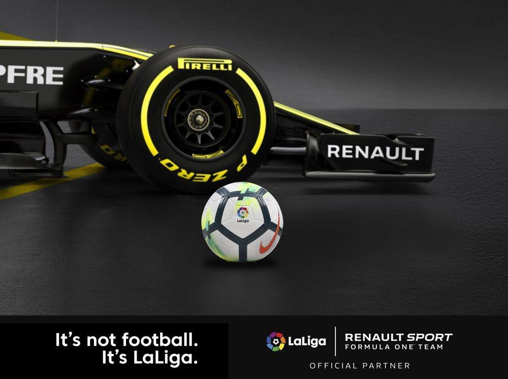 El logotipo de LaLiga estará visible en el monoplaza del equipo Renault de F1