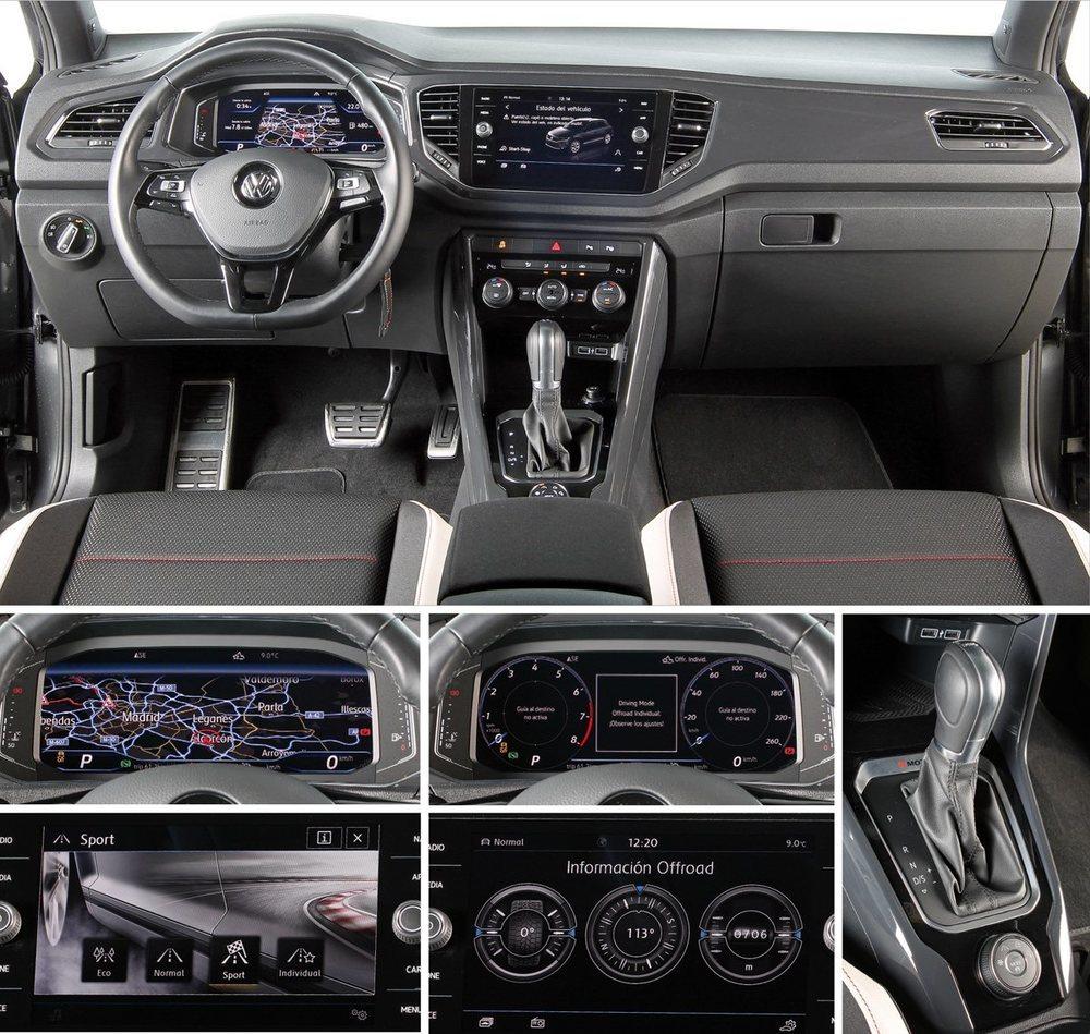 La instrumentación VW Digital Cockpit es de serie en los Sport. Pero si ponemos el mapa, deja de verse en la pantalla central. La pantalla central de 8 pulgadas ofrece variada información y con gráficos vistosos.