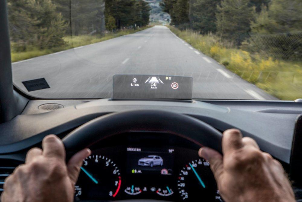 En la instrumentación del nuevo Ford Focus se puede incorporar un Head Up Display.